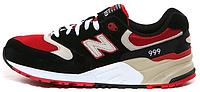 Мужские кроссовки New Balance 999 Black Red Нью Баланс черные/красные