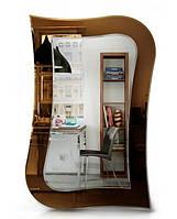 Фигурное зеркало в спальню или ванную комнату (87х58 см), бесплатная доставка