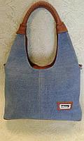 Сумка джинсовая красивая молодежная синяя  (Турция)