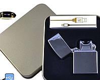 Электроимпульсная USB зажигалка Jin Lun №4839-3, стильный необычный гаджет для Вас, прикуриваем в любую погоду