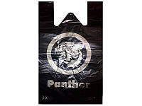 "Пакет майка ""Пантера"" Кривой Рог (30+2x8x55) (уп.100шт)"
