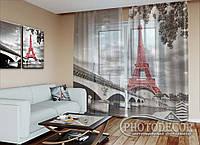"""ФотоТюль """"Эйфелевая башня"""" (2,5м*6,0м, на длину карниза 4,0м)"""