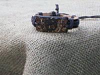 Унисекс браслет из кожи ПАЦИФИК на руку, ручная работа