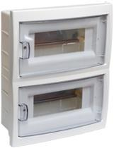 Купить бокс 16-местный скрытой установки с дверцей для установки автоматических выключателей и т.п. с номинальным током не более 40 А, при температуре окружающей среды от -5 ºС до +40 ºС. Для размещения 16-ти и менее электроаппаратов.