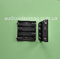 """Отсек для 4 АА (пальчиковых) батареек, с контактами под """"Крону"""""""