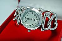 Часы с фигурным баслетом серебро 925*