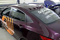 Спойлер на крышу Hyundai Accent\Solaris 2010-2014 г.в. в стиле Evo-style