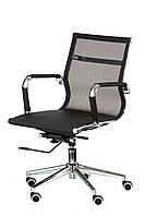 Кресло Solano 3 mesh black, черное, сетка. Офисное, компьютерное