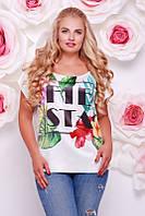 Женская футболка FB-1353J размеры 50-56