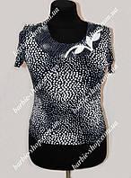 Оригинальная женская блуза-футболка батального размера 30252