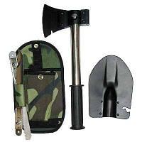 Походный туристический набор 4 в 1 (Лопатка туристическая, пила, штык-нож, топор)