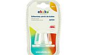 AKUKU Силиконовый носик 4+ для поильника A0134 и бутылочек с  широким отверстием