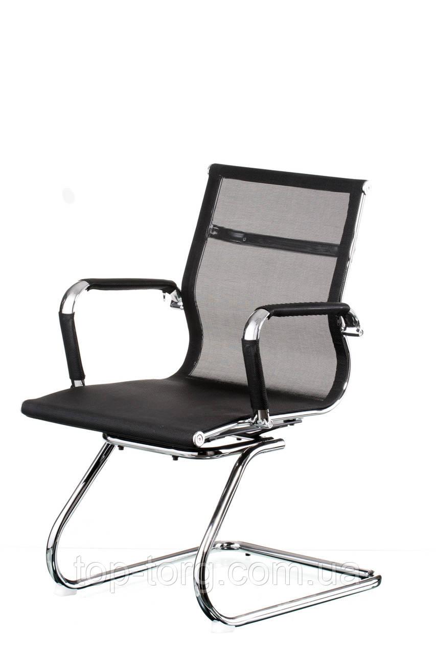 Крісло конференційне Solano mesh conference black, чорне