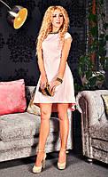 Жаккардовое платье модного фасона
