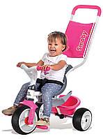 Велосипед трехколесный Baby Balade  - Smoby - Франция - складывающиеся подножки  Розовый