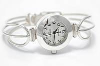 Часы с фигурным браслетом серебро 925*