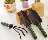 Набор садовых инструментов с пластиковыми ручками (3 предмета)