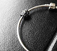 """Шарм бусинка на браслет """"пандора """" серебро 925"""