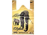 """Пакет майка """"Слон"""" Кривой Рог (28+2x8x46) (уп.250шт)"""
