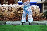 Летние кружевные сапожки из макраме, полосатики (голубые), фото 4