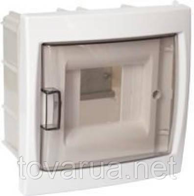 Бокс четырехместный для скрытой установки с дверцей
