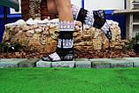 Летние кружевные сапожки из макраме, полосатики (черные), фото 3