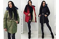 Очень теплое зимнее синтепоновое пальто водоупорное