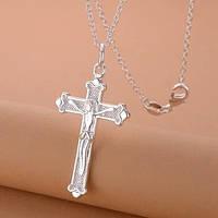 Крестик с цепочкой стерлинговое серебро