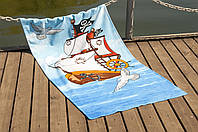 Полотенце пляжное велюр 75х150 Sailboat Lotus