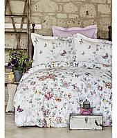 Комплект постельного белья евро KARACA HOME 2017 сатин INFINITY FUSYA