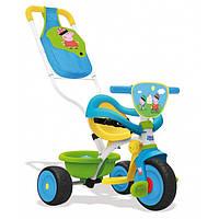 Велосипед трехколесный Be Move Confort Peppa Pig - Smoby - Франция - есть сумка и корзина