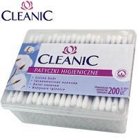 Cleanic - Ватные палочки 200шт (100% хлопок) в прямоугольной пластик. упаковке