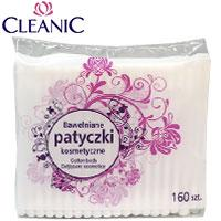 Cleanic - Ватные палочки 160шт Patyczki (100% хлопок) в пакете