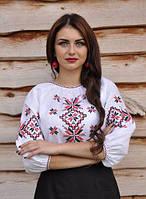 Вышиванка женская льняная с рукавом 3/4 Модель Ж06/2-212