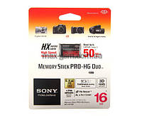 Карта памяти Sony Memory Stick Pro-HG Duo HX 16Gb
