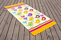 Полотенце пляжное велюр 75х150 Birds белый Lotus
