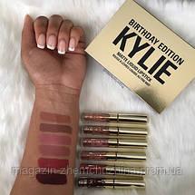 Набор матовых жидких помад от Кайли Дженнер Kylie Birthday Edition 6 mini lipstick!Акция, фото 3
