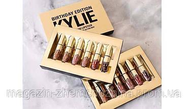 Набор матовых жидких помад от Кайли Дженнер Kylie Birthday Edition 6 mini lipstick!Акция, фото 2