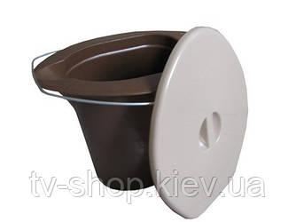 Ведро-туалет с крышкой и сливом
