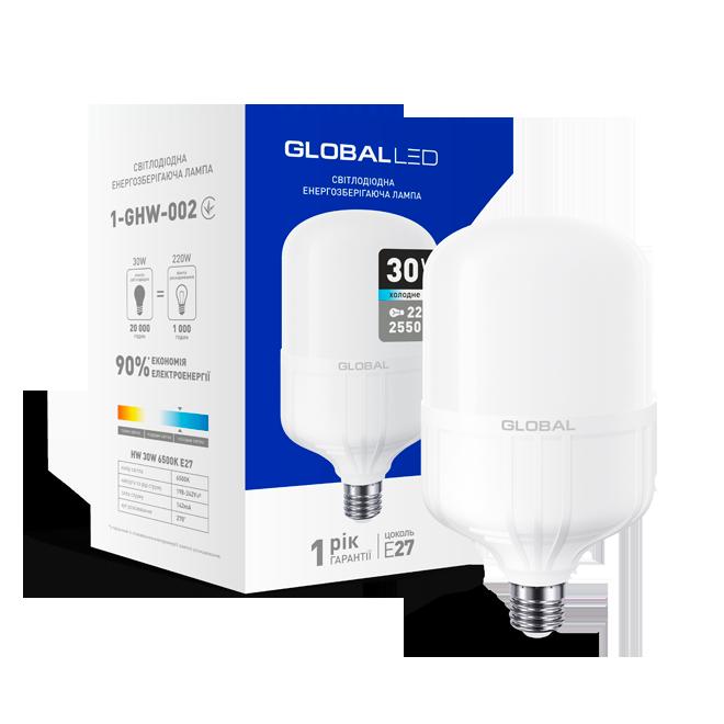 Высокомощная led-лампа Global 30W Е27 2550Lm Ra80 (1-GHW-002)