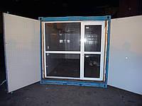 Блок-контейнер 20 футов (тонн) с окном, перегородкой, внутренней отделкой, утеплением и проводкой