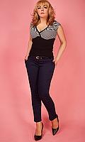 Женские брюки средней посадки с принтом