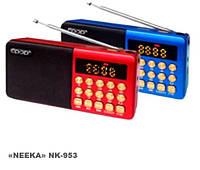 Портативный радиоприемник nk-953, функция записи, аккумуляторный, мощность 3Вт, USB, TF CardReader, Aux.