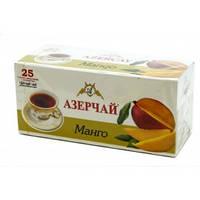 """Чай """"Азерчай"""" черный с ароматом манго, 25 ф/п"""