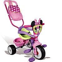 Велосипед трехколесный Be Move Confort Minnie Mouse - Smoby - Франция - есть сумка и корзина