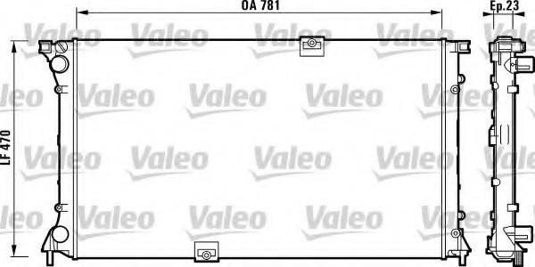 Радиатор двигателя на Renault Trafic 2003->  2.5dCi  (135 л.с.) — Valeo (Франция) - VAL732902