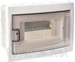 Купить бокс восьмиместный для скрытой установки с дверцей, для установки автоматических выключателей и т.п. с номинальным током не более 40 А, при температуре окружающей среды от -5 ºС до +40 ºС. Для размещения 8ми и менее электроаппаратов.