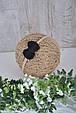 Повязка с вязаным черным бантиком, фото 3