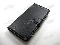 Кожаный чехол книжка Motorola Moto G4 Play (черный)