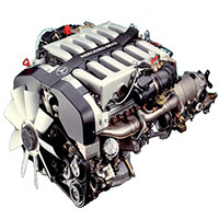 Двигун (навісне, паливна, впускна і випускна системи)